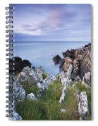 Seascape From Coast Of Clogherhead Spiral Notebook