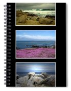 Seascape Triptych Spiral Notebook