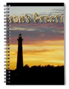 Season's Greetings Card - Cape Hatteras Lighthouse Sunset Spiral Notebook