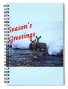 Seasons Greetings Deer Spiral Notebook