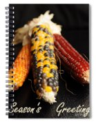 Season's Greetings- Thanksgiving Card No. 1 Spiral Notebook