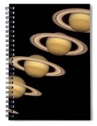 Seasons On Saturn Spiral Notebook