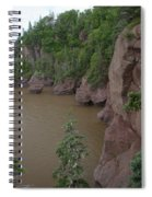 Seastacks At Hopewell Rocks Spiral Notebook