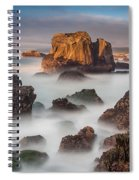 Seastacks In The Mists Spiral Notebook