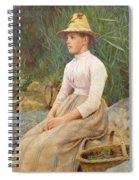Seated Lady Spiral Notebook