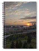Seattle Arrival Sunset Spiral Notebook