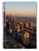 Seattle Blue Hour Spiral Notebook