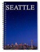 Seattle Skyline 2 Spiral Notebook