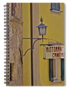 Secluded Restaurant Of Tuscany Spiral Notebook