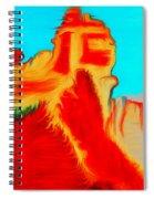Sedona Hills - Fire At Sunset - Arizona Spiral Notebook
