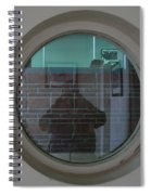 Self Portrait In A Circular Glass On The Wall Spiral Notebook