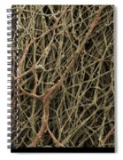 Sem Of Mycelium On Mushrooms Spiral Notebook