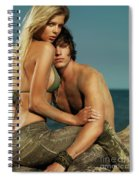 Sensual Portrait Of A Young Couple On The Beach Spiral Notebook
