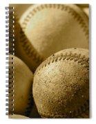 Sepia Baseballs Spiral Notebook
