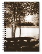 Sepia Picnic Table Spiral Notebook