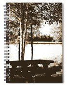 Sepia Picnic Table Ll Spiral Notebook