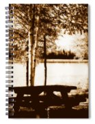 Sepia Picnic Table Lll Spiral Notebook