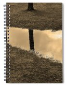 Sepia Silhouetted Reflections  Spiral Notebook