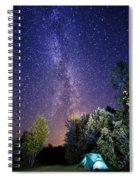 September Night Sky Spiral Notebook