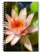 Serene Pink Waterlily  Spiral Notebook