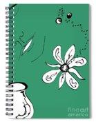 Serenity In Green Spiral Notebook