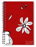 Serenity In Red Spiral Notebook