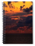 Setting Sun At South Beach Spiral Notebook