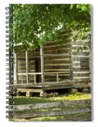 Settlers Cabin And Crosstie Fence 4 Spiral Notebook
