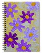 Seven Flowers Spiral Notebook
