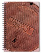 Sewer Cover Spiral Notebook