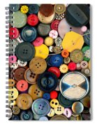 Sewing - Buttons - Bunch Of Buttons Spiral Notebook