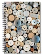 Sewing - Buttons - Lots Of White Buttons Spiral Notebook