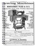 Sewing Machine Ad, 1895 Spiral Notebook