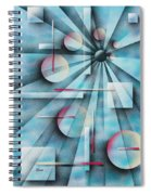 Shades Of Fibonacci Spiral Notebook