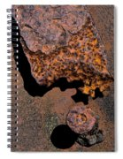 Shadows And Rust Spiral Notebook