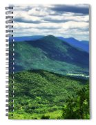 Shadows On The Mountains Spiral Notebook