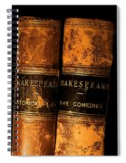 Shakespeare Leather Bound Books Spiral Notebook