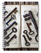 Shakspeare King Lear And Old Keys Spiral Notebook