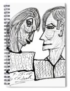 She And He Pen And Ink 2000 Spiral Notebook