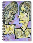 She And He Pen And Ink 2000 Digital Spiral Notebook