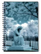 She Dreams In Blue Spiral Notebook