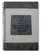 Shea Stadium Third Base Spiral Notebook