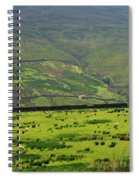 Sheep Graze In A Pasture In Swaledale Spiral Notebook