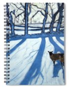 Sheep In Snow Spiral Notebook
