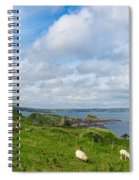Sheep On A Hill Spiral Notebook