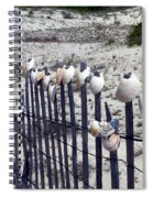 Shell-decorated Fence Spiral Notebook