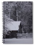 Shelter From The Cold Spiral Notebook