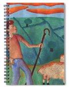 Shepherd Boy Detail Of Red Sky At Night Spiral Notebook