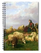 Shepherdess Resting With Her Flock Spiral Notebook