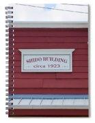 Shido Building Circa 1923 Spiral Notebook